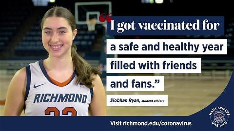 We can't wait to see #Spider fans back in the Robins Center. Have you reported your vaccination status yet? Deadline is Sunday! #ManySpidersOneWeb 🕷️