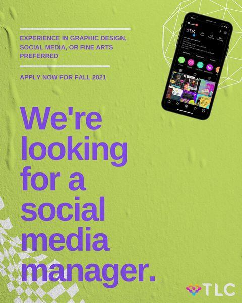 THE TLC IS HIRING! Are you a current student interested in social media, graphic design, marketing, or fine arts? Email us at tlc@richmond.edu to apply for Fall 2021!