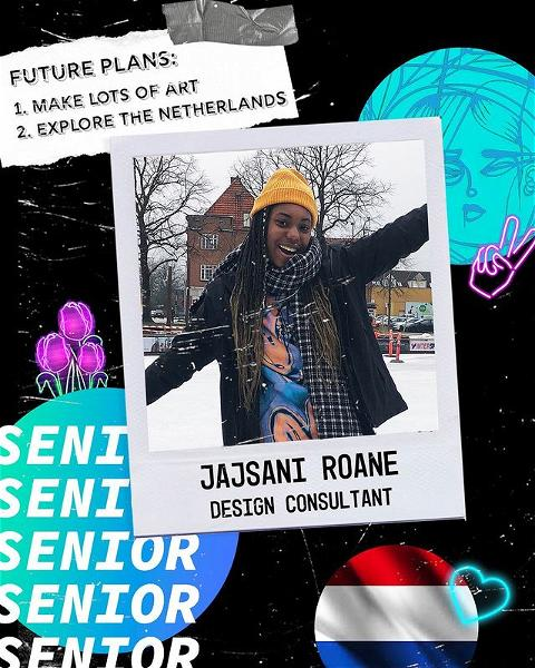 SENIOR SPOTLIGHT 🔦 Jajsani is graduating with a BA in Environmental Studies and Visual & Media Arts! Congrats Jajsani, the TLC will miss you! #TLCSeniors
