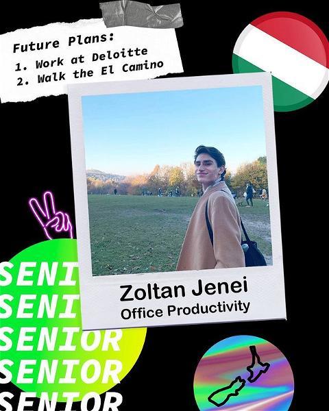 SENIOR SPOTLIGHT 🔦 Congrats Zoltan, the TLC will miss you! #TLCSeniors #SeniorSpotlight
