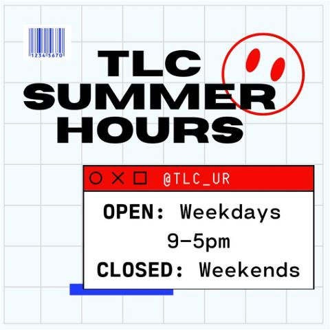 don't forget, the tlc is open all summer! stop by monday-friday from 9-5pm and come say hi!🌀