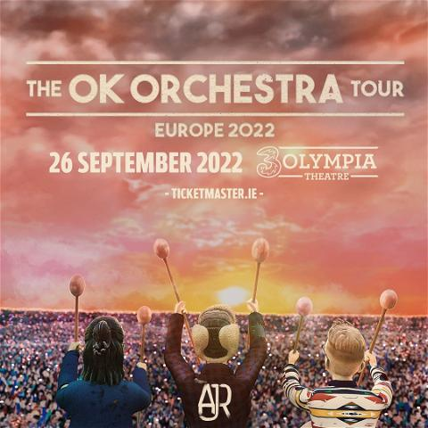 ⚡️𝐍𝐞𝐰 𝐒𝐡𝐨𝐰 𝐀𝐥𝐞𝐫𝐭⚡️  @ajrbrothers have announced a Dublin show at 3Olympia on 26th September 2022  Three brothers form a band, they write, produce, and record music in their living room, and they end up unlocking a magical world unlike anything else out there...  Tickets on sale at 9am on Friday 24th September from @tmie  @threeireland Presale tickets on sale at 9am on Wednesday 22nd September with #3plus  #3olympia #ajr