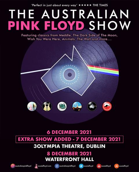 𝗗𝗔𝗧𝗘 𝗔𝗗𝗗𝗘𝗗!  Due to phenomenal demand, @australianpinkfloyd have added an extra date at 3Olympia Theatre on 7th December 2021.  Tickets for the extra show go on sale this Friday 24th September at 9am via @tmie. @threeireland Presale Tickets on sale at 9am on Wednesday 22nd September with #3plus   #3olympia #australianpinkfloyd