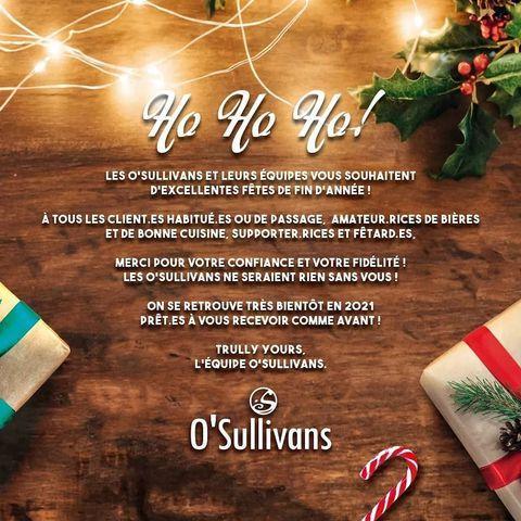 🎀 It's Christmas time! 🎀  Toute l'équipe du O'sullivans vous souhaiteun  bon réveillon !  Lait de poule, champagne, huîtres, foie gras, dinde aux marrons... Festoyez, profitez (stay safe of course), on espère que vous serez repus, pourris gâtés et couverts d'amour 💋  ▫️ #merrychristmas #christmastime #christmasgift #christmas #noel #santaclaus #gift #champagne #christmastree #paris #family #barman #winter #holiday #snow #santa #xmas #christmasaseve