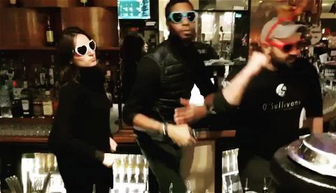 😆 Bartenders in action. Happy Tuesday everyone, keep the smile !  For more : ▶️ Link in bio!   ▪️  #team #bartender #bartending #bar #barparis #dance #dancer #souvenirs #winter #pigalle #barpigalle #paris18 #paris18eme #sunglasses #laugh #laughing #electronicmusic