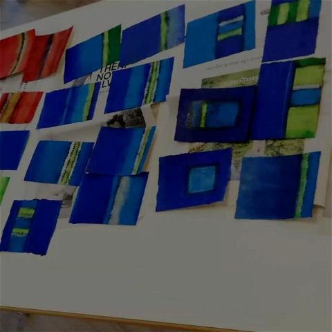 Eine farbenfrohe und interessante Woche geht zu Ende #schweizermalschule #kurs#susannbaur#kunst