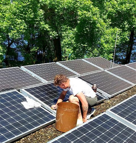 Damit wir bald wieder volle Leistung haben😅 #energy #greenenergy #maintenance#causewecare #