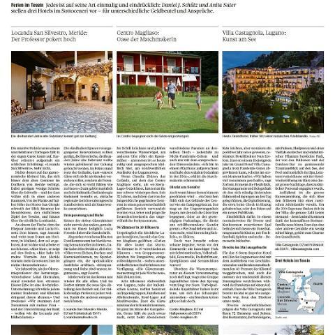..... wir freuen uns über den Artikel im Tagesanzeiger.....  #tagesanzeiger #ticino #ferieninderschweiz #ticinoturismo