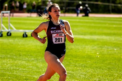 She traveled the trail. She floated the wagon. She avoided exhaustion.  And now, it's race day in Oregon for Brooke Fazio.  Good luck to Brooke as she will compete in the 800m semifinal tonight at the 2021 @ncaatrackfield Championship Finals! Tune in to ESPN2 at 8:14PM to catch the action!  #OneRichmond