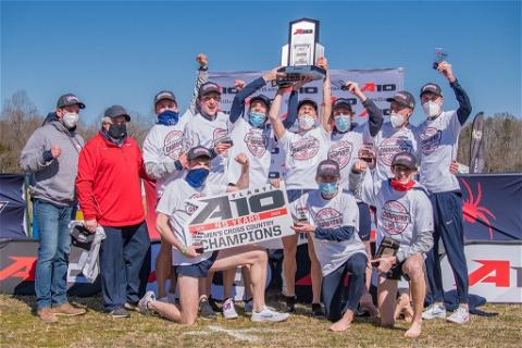 🏆  How sweet it was when richmondxctf brought home the 2021 A-10 Men's Cross Country Championship!   #OneRichmond