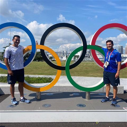 Good luck to SpiderBaseball alum Jonathan de Marte and assistant coach Nate Mulberg as they kick off their Olympic journey tomorrow at 6:00AM for israel_baseball in Tokyo!   #OneRichmond x #Olympics